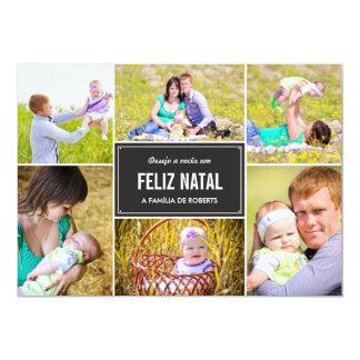Moda DA colagem cartões de fotos d'à de Férias Carton D'invitation 12,7 Cm X 17,78 Cm