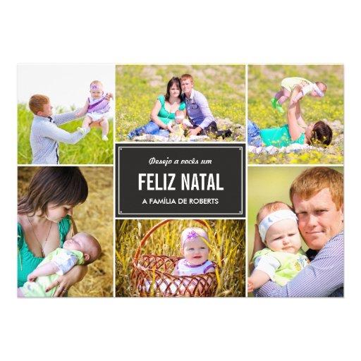 Moda DA colagem cartões de fotos d'à de Férias Invitations Personnalisées
