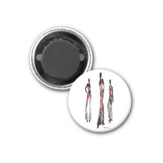 Mode africaine magnets pour réfrigérateur