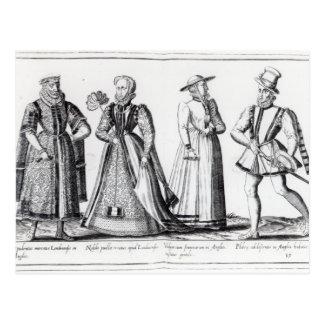 Mode au cours de la période de Tudor Carte Postale