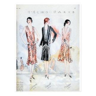 Mode, avril 1928 carte postale