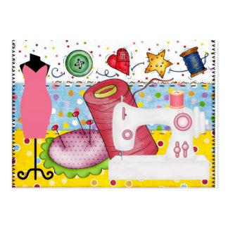 Mode - carte étiquette d ouvrière couturière - SRF Modèles De Cartes De Visite