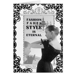 Mode-carte pour notes vintage
