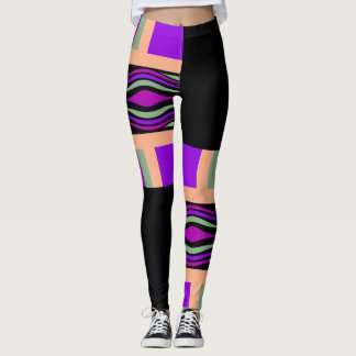 Mode d'amusement Guêtre-Femme-Multicolore/noir Leggings
