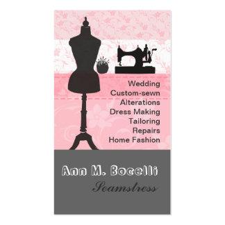 Mode de couture de rétro métier chaud floral rose carte de visite standard