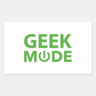 Mode de geek sticker rectangulaire