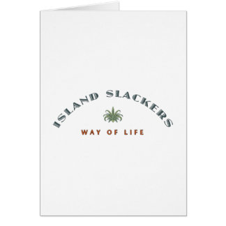 Mode de vie de Slacker d'île Carte De Vœux
