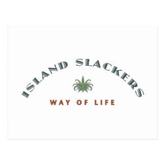 Mode de vie de Slacker d'île Carte Postale
