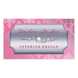 Mode design d intérieur se précipitants roses de d carte de visite