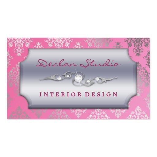 Mode/design d'intérieur se précipitants roses de d carte de visite