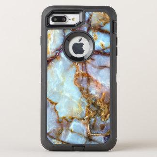 Mode en pierre de la texture | d'or et élégant de coque otterbox defender pour iPhone 7 plus