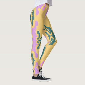Mode Guêtre-Femme-Teal/lavande/or d'amusement Leggings