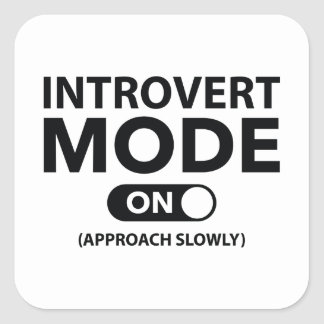 Mode introverti dessus sticker carré