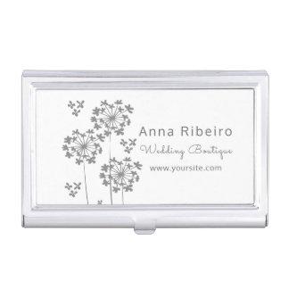 Mode minimaliste floral d'hortensia de boutique de porte-cartes de visite