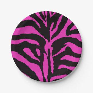 Mode moderne d'arrière - plan rose et noir de assiettes en papier