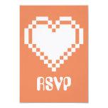 Mode multijoueur dans la carte de corail de RSVP Carton D'invitation 8,89 Cm X 12,70 Cm