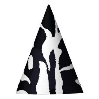 Mode noire et blanche d'animal de zèbre chapeaux de fètes