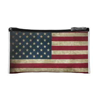 Mode patriotique de drapeau américain des Etats-Un Trousses De Maquillage