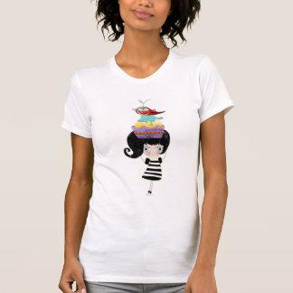 Mode rêveuse de Paris Italie d'oiseau de petit T-shirt