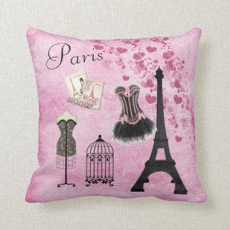 Mode rose Girly chic de Paris Oreillers