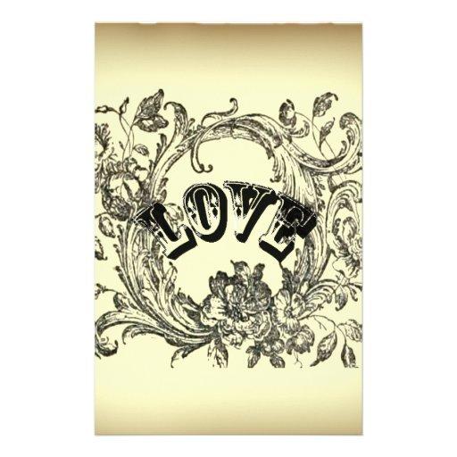 Mode vintage beige de paris d 39 amour de tatouage zazzle - Tatouage amour perdu ...