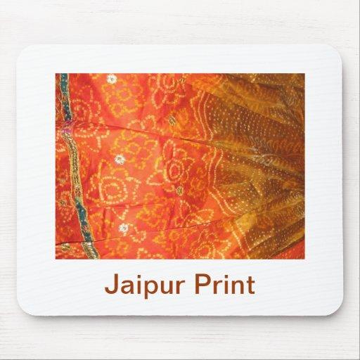 Mode vintage : Or d'impression de Jaipur avec le t Tapis De Souris