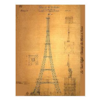Modèle 1884 de Tour Eiffel Carte Postale