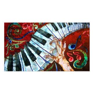 Modèle 1 de carte de visite de piano