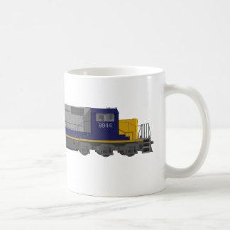 modèle 3D : Moteur de train : Chemin de fer : Mug Blanc