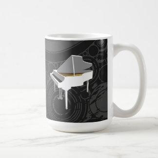 modèle 3D : Piano à queue blanc : Tasse de café