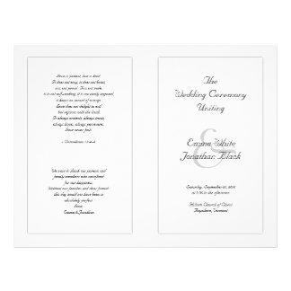 Modèle abordable noir et blanc de cérémonie prospectus 21,6 cm x 24,94 cm