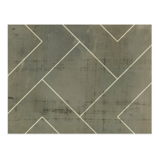 Modèle abstrait avec des formes géométriques cartes postales