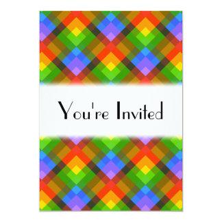 Modèle abstrait carton d'invitation  12,7 cm x 17,78 cm