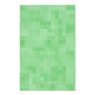 Modèle abstrait vert prospectus 14 cm x 21,6 cm