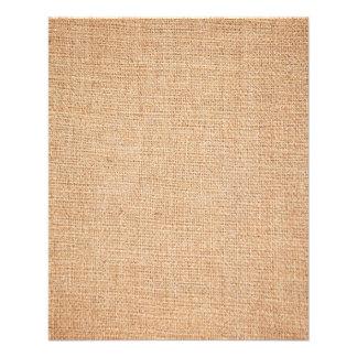 Modèle - arrière - plan de toile de jute prospectus 11,4 cm x 14,2 cm