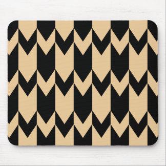 Modèle beige et noir de Chevron Tapis De Souris