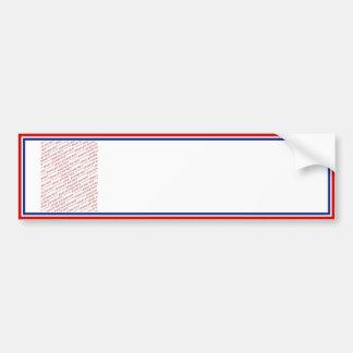 Modèle blanc et bleu rouge de cadre de photo autocollant pour voiture