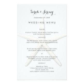Modèle bleu-clair de menu de mariage d'étoiles de prospectus 14 cm x 21,6 cm