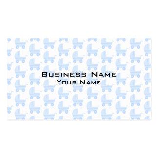 Modèle bleu-clair et blanc de poussette de bébé carte de visite standard