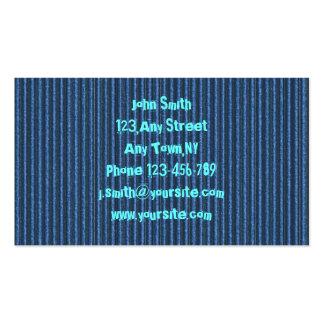 Modèle bleu de carte de visite de carton