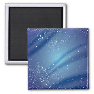 Modèle bleu de nuit étoilée magnets