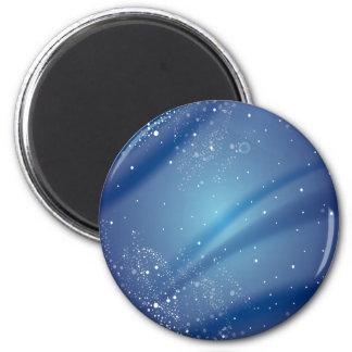 Modèle bleu de nuit étoilée aimant
