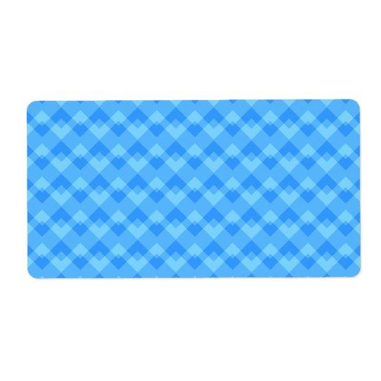 Modèle bleu moderne étiquette d'expédition