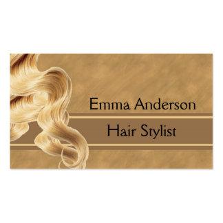 Modèle blond de carte de visite de coiffeur