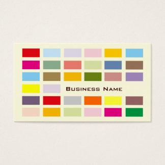 Modèle carré coloré de carte de visite de motif