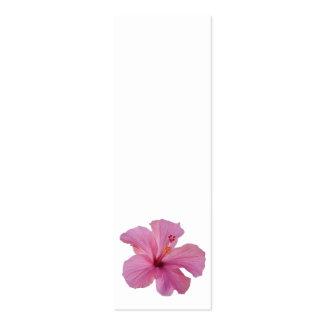 Modèle customisé par fleur hawaïenne rose de carte de visite petit format