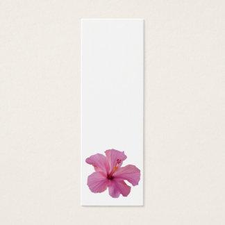 Modèle customisé par fleur hawaïenne rose de mini carte de visite