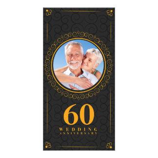 Modèle d'anniversaire de mariage d'or personnalisé photocartes
