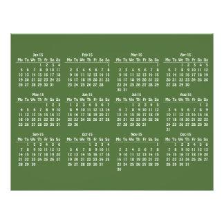 modèle de 2015 calendriers prospectus 21,6 cm x 24,94 cm