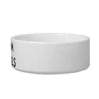Modèle de blanc de cuvette de chien personnalisé assiettes pour chat